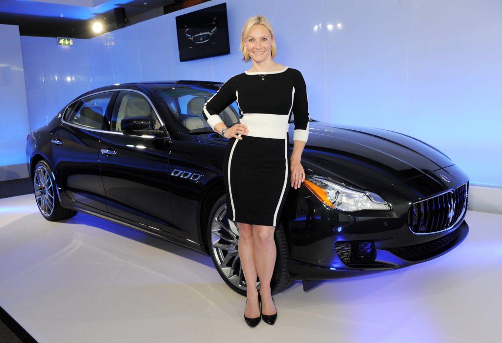 Vicki and the Maserati Quattroporte