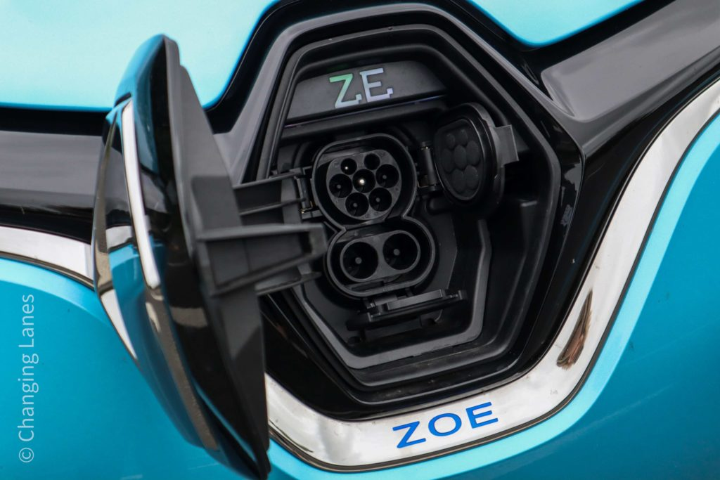CCS fast charging is available for the first time in the 2020 Renault ZOE range