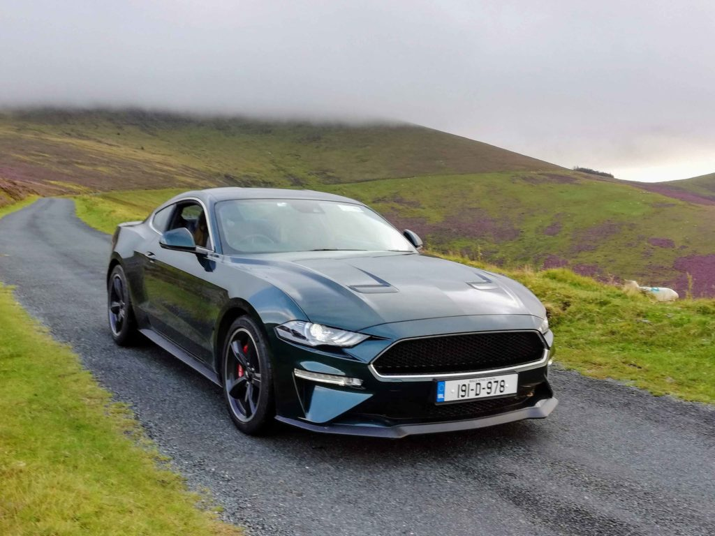 The Mustang Bullitt pictured in the Blackstairs Mountains