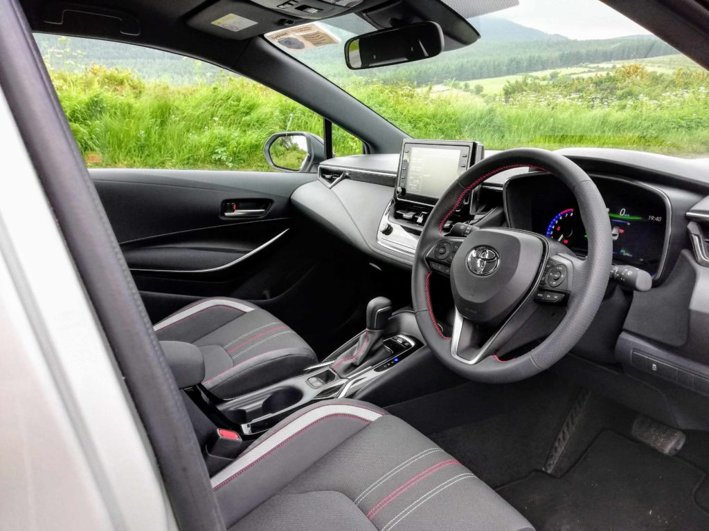 The interior of the 2020 Toyota Corolla GR Sport