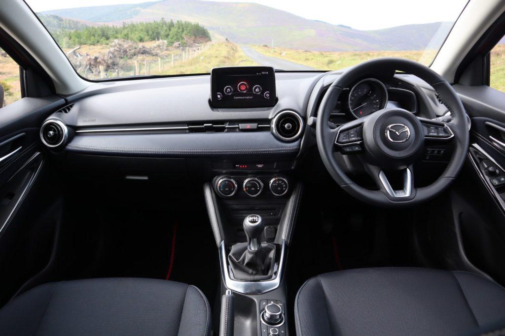 The interior of the 2020 Mazda2