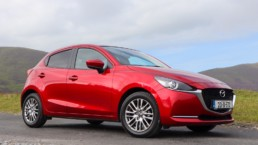The Mazda2 on test for Changing Lanes in beautiful Soul Red Crystal!