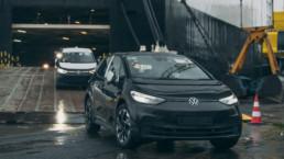 Volkswagen ID.3 arriving at Dublin Port