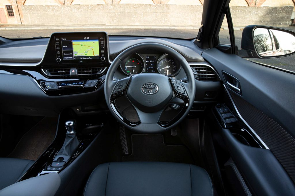 The interior of the 2020 Toyota C-HR