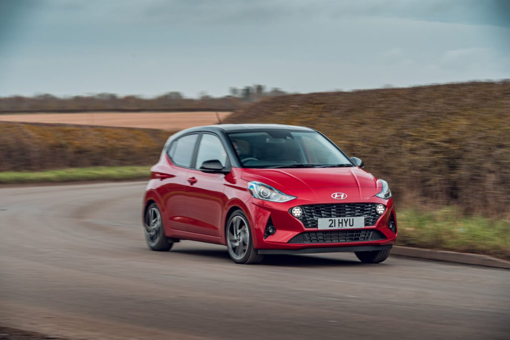 The Hyundai i10 is powered by a small petrol engine