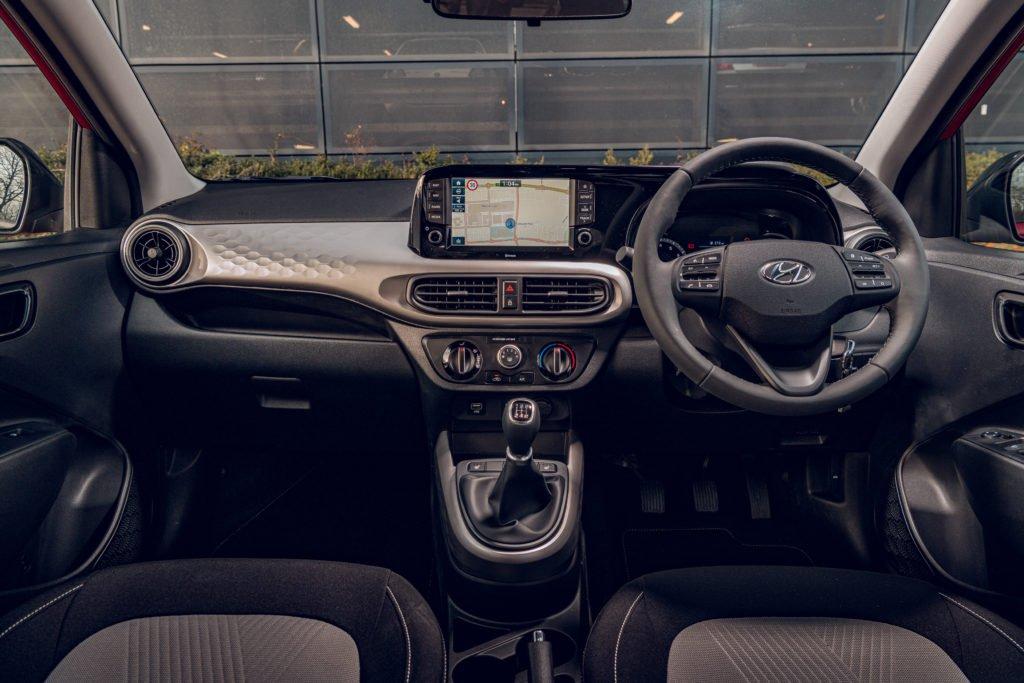 The interior of the new Hyundai i10
