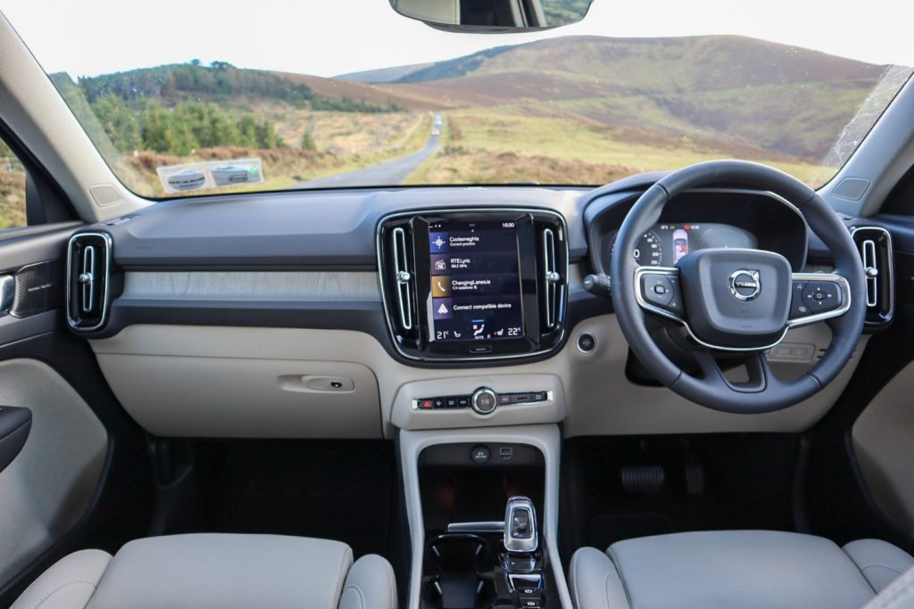 The interior of the Volvo XC40 T5 Inscription Pro