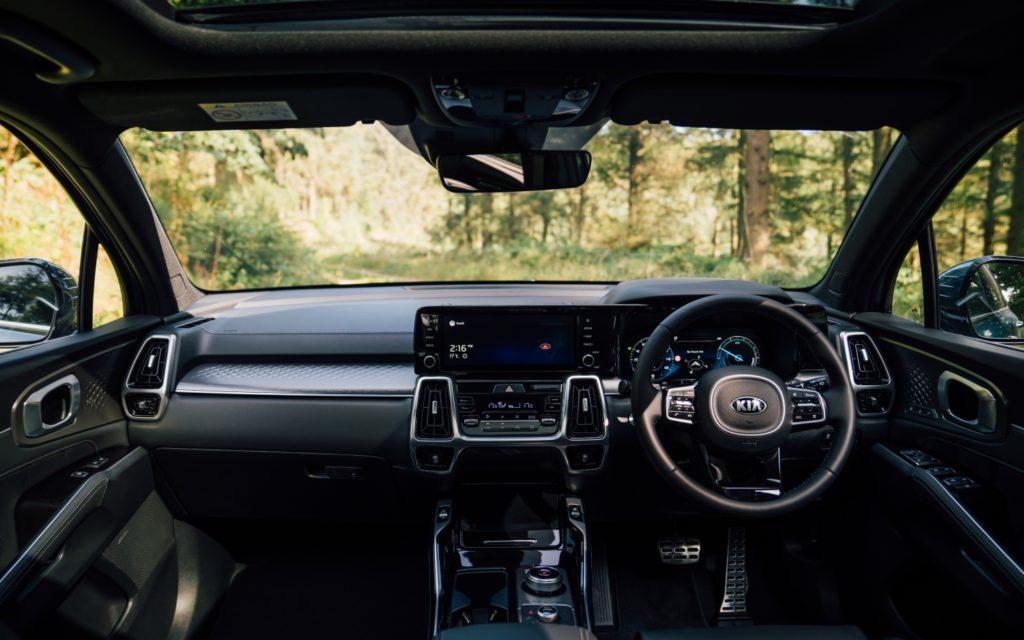 The interior of the 2021 Kia Sorento