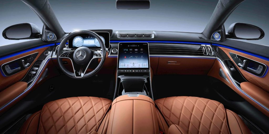 The interior of the new Mercedes-Benz S-Class