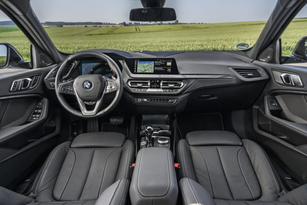 The interior of the 2021 BMW 1 Series