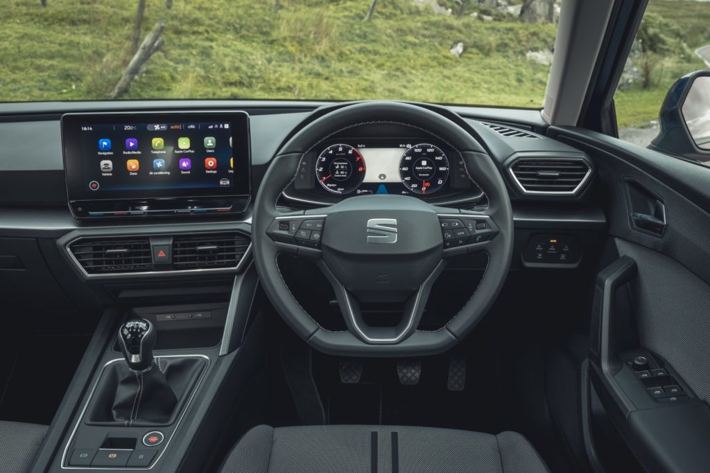 Inside the 2021 SEAT Leon