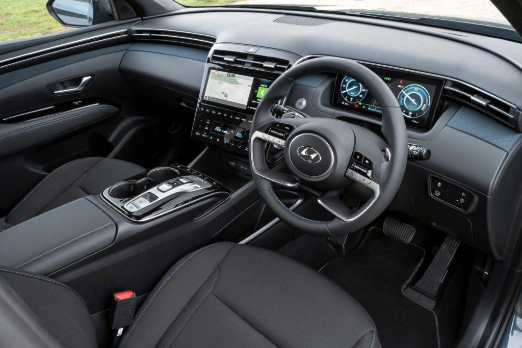 The interior of the new Hyundai Tucson