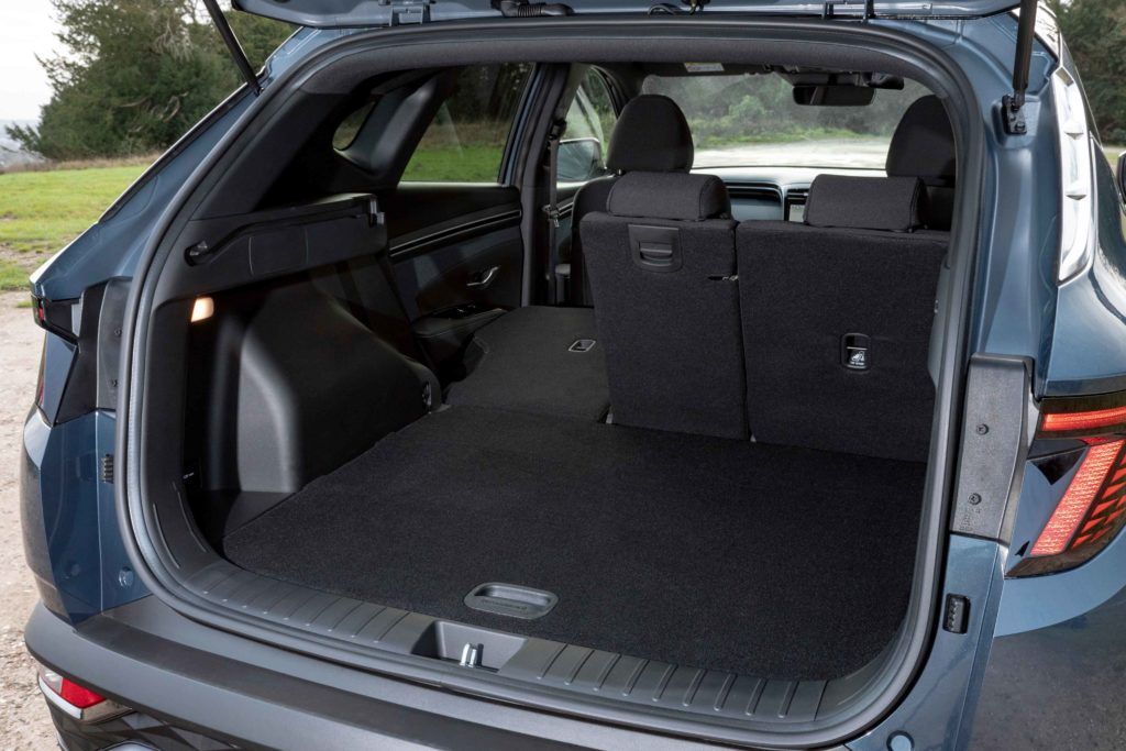 Boot space in the new Tucson