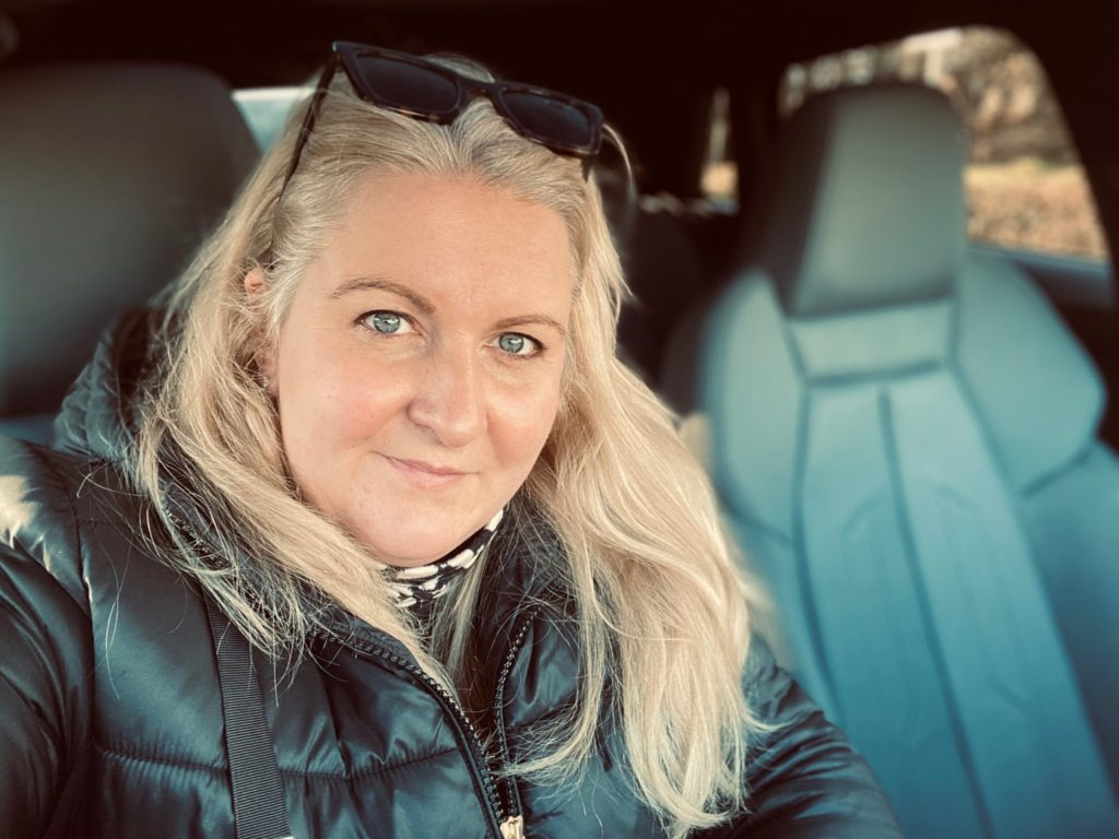 Laura Sutherland behind the wheel of her Audi A3 Sportback