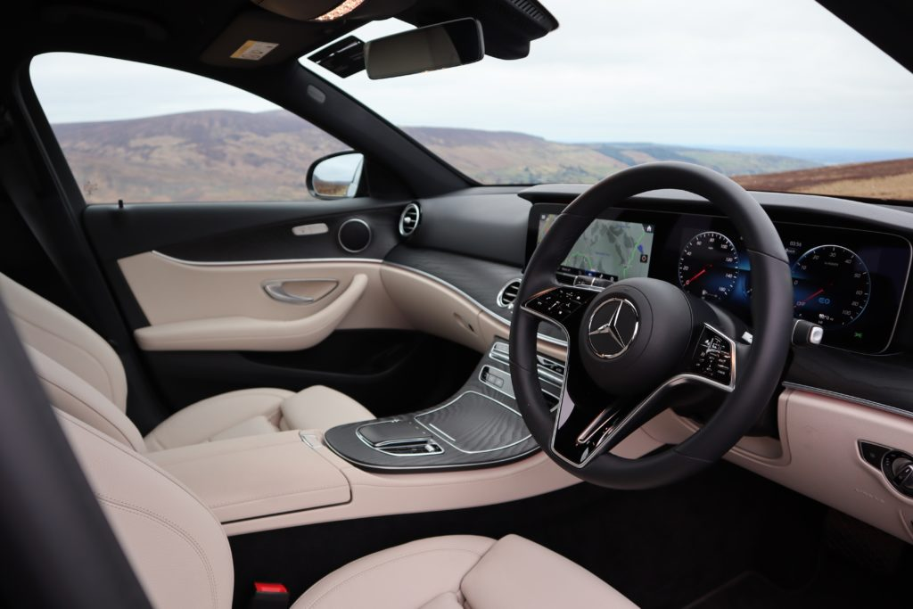 The interior of the 2021 Mercedes-Benz E-Class