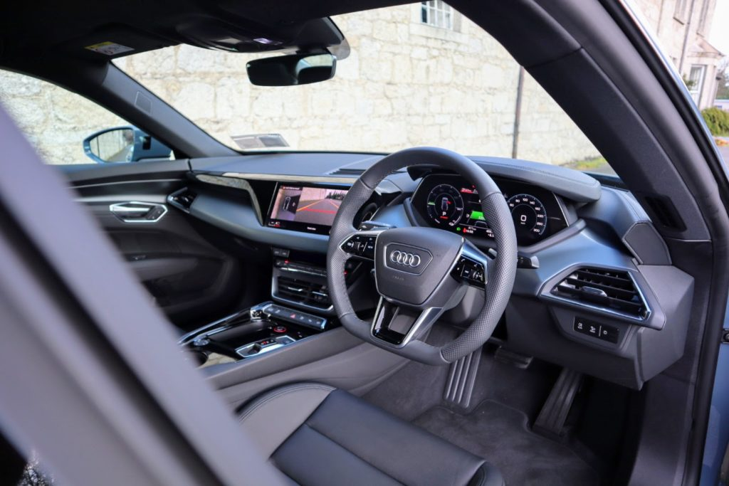 The interior of the 2021 Audi e-tron GT