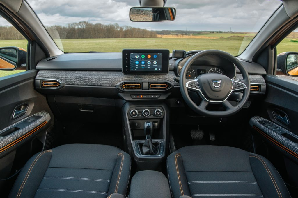 The interior of the new Dacia Sandero Stepway