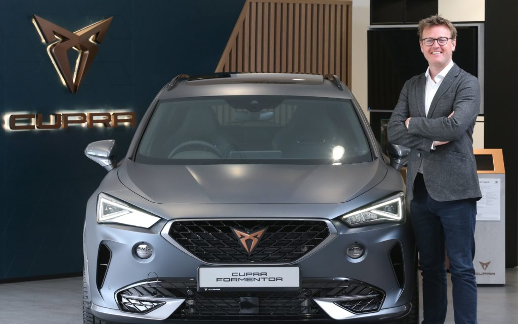 Niall Phillips, Brand Director for CUPRA and SEAT Ireland, with the new Formentor