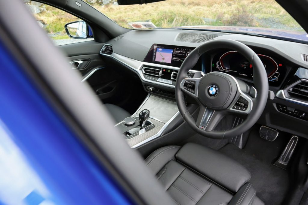 The interior of the 2021 BMW 3 Series
