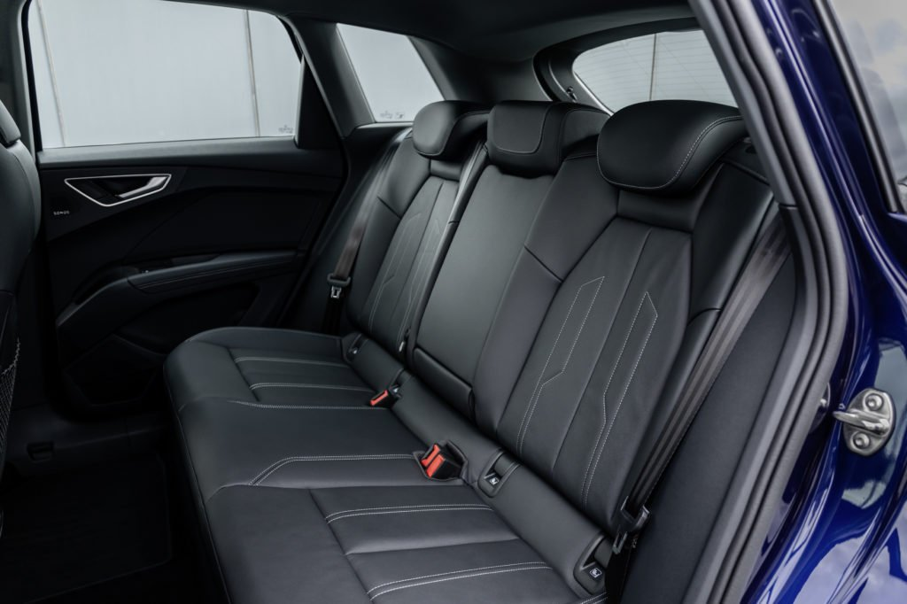 Rear seating in the Audi Q4 e-tron