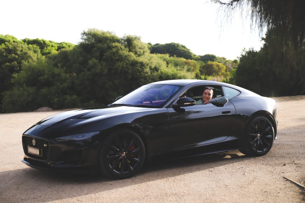 Andrea and the Jaguar F-TYPE