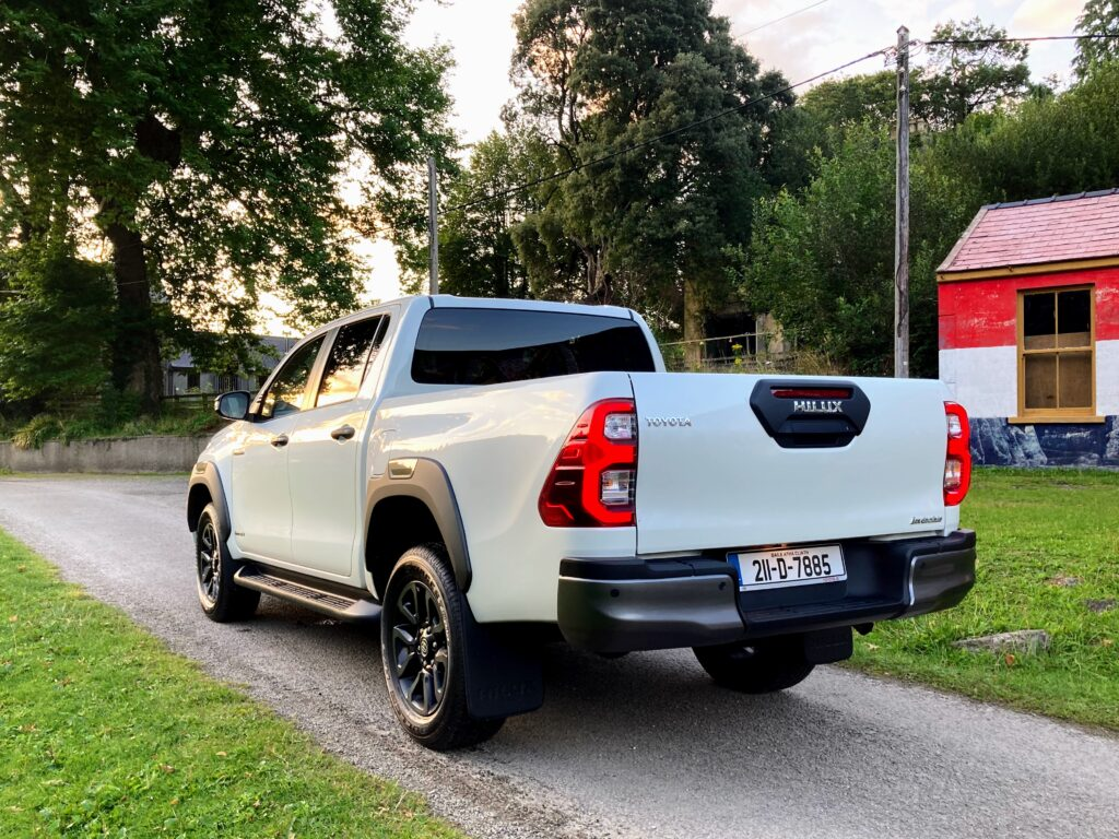 The top of the range Hilux Invincible is on sale in Ireland from €50,570