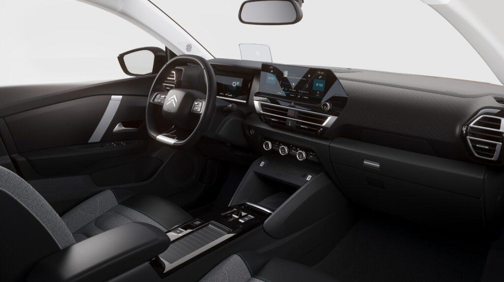 The interior of the new Citroen C4