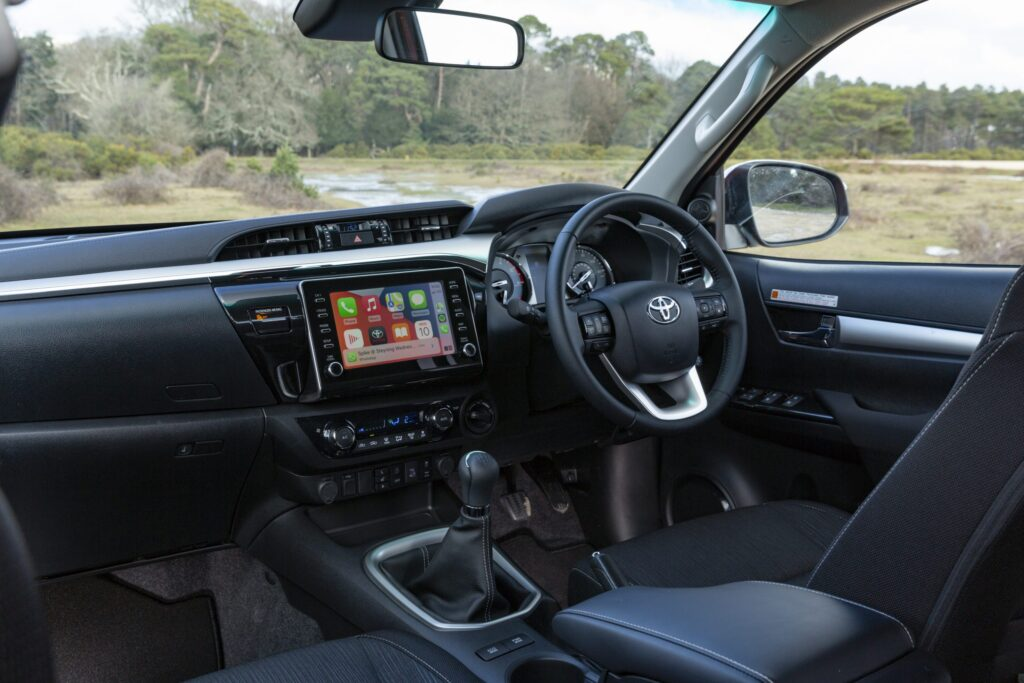 Inside the 2021 Toyota Hilux