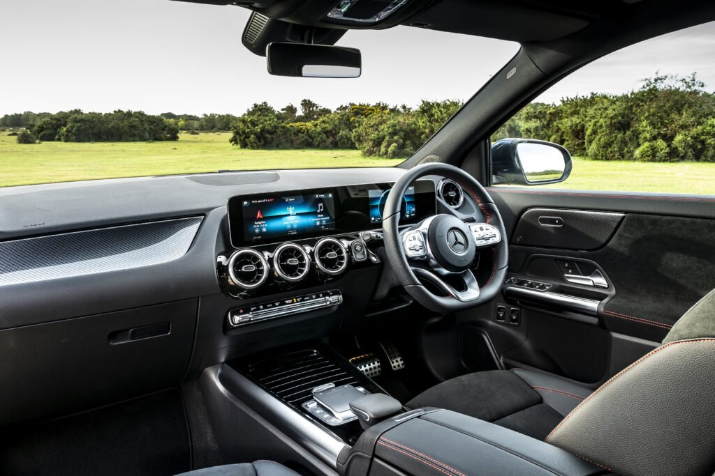 The interior of the new Mercedes-Benz GLA