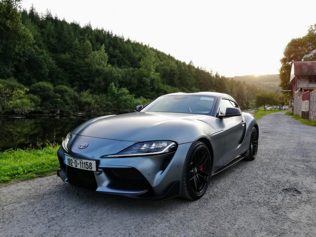 The Toyota Supra on test for Changing Lanes!