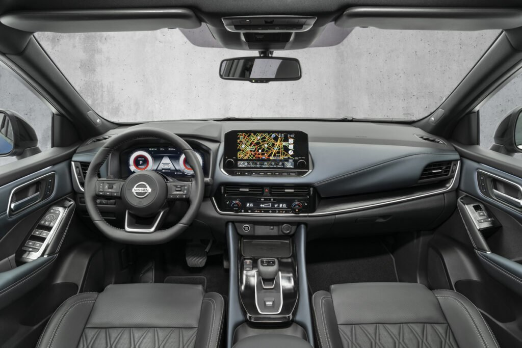 The interior of the 2021 Nissan Qashqai